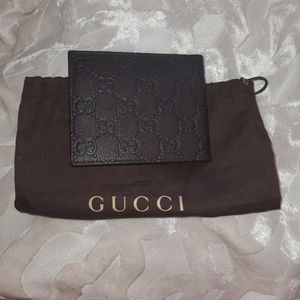Gucci Mens Wallet Guccissinma Leather brown